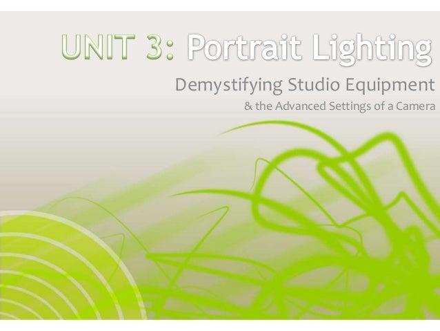 Demystifying Studio Equipment & the Advanced Settings of a Camera