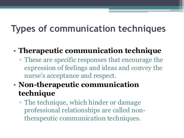 strategies to enhance therapeutic communication between healthcare Therapeutic nurse-patient communication helps nurses to build positive relationships with patients by showing warmth, respect, and empathy in order to accomplish the effective communication and empower the patient, a nurse needs to identify and be aware of the patient's physical, psychological, or social barriers.