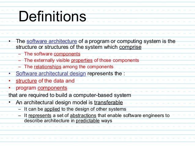 Architectural Design In Software Engg