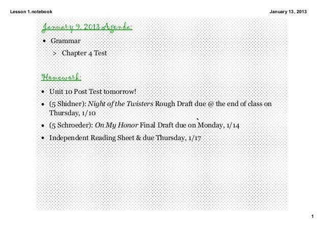 Lesson1.notebook                                                                    January13,2013             January ...