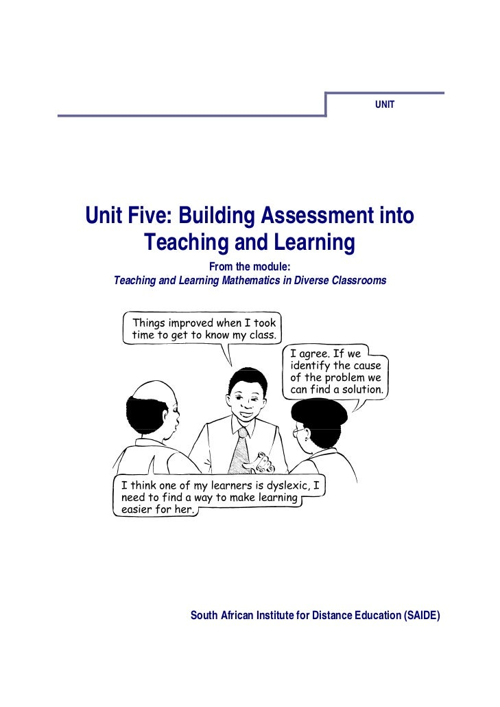 Ace Maths Unit Five: Assessment Into Teaching and Learning (pdf)