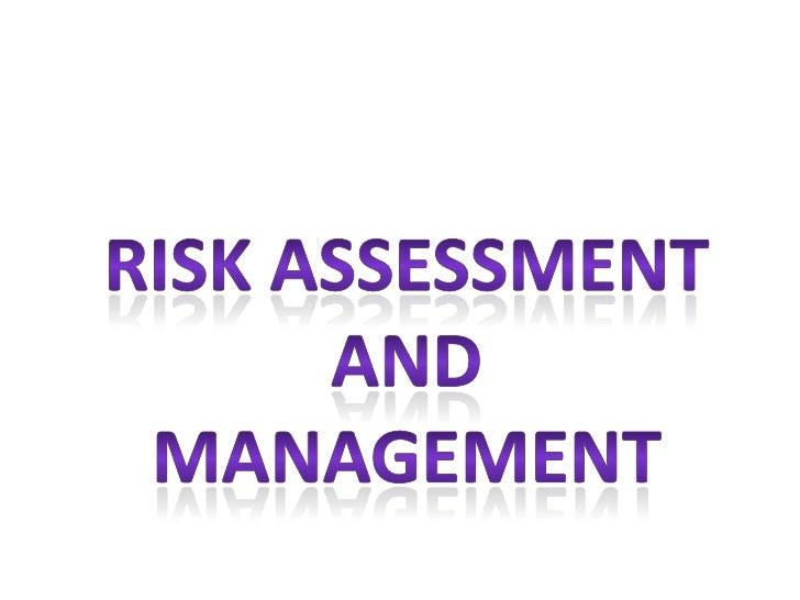 Unit 5 risk assessment and management