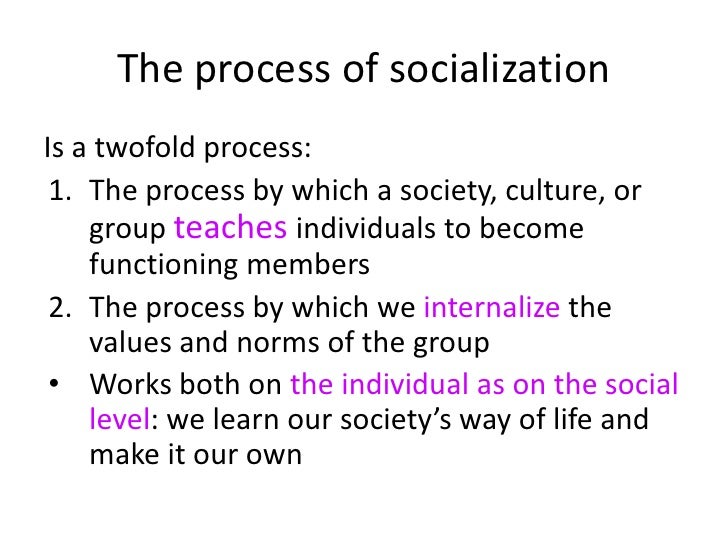 internalization of values socialization of the