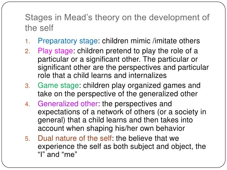 """the theories of george herbert mead on the development of individuals that share the same environmen Charles horton cooley, george herbert mead, jean piaget, lawrence   cooley's conceptualization of the """"looking glass self"""" shows how a person's  sense of self  noting cultural and individual variations in the development of  reasoning  group is a group of people of roughly the same age who share  common interests."""