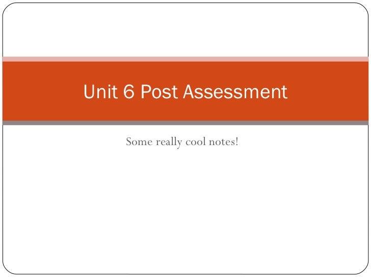 Hemrick Unit 6 post assessment