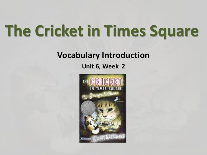 Unit6wk2 part2 vocabulary introduction cricketin timessquare