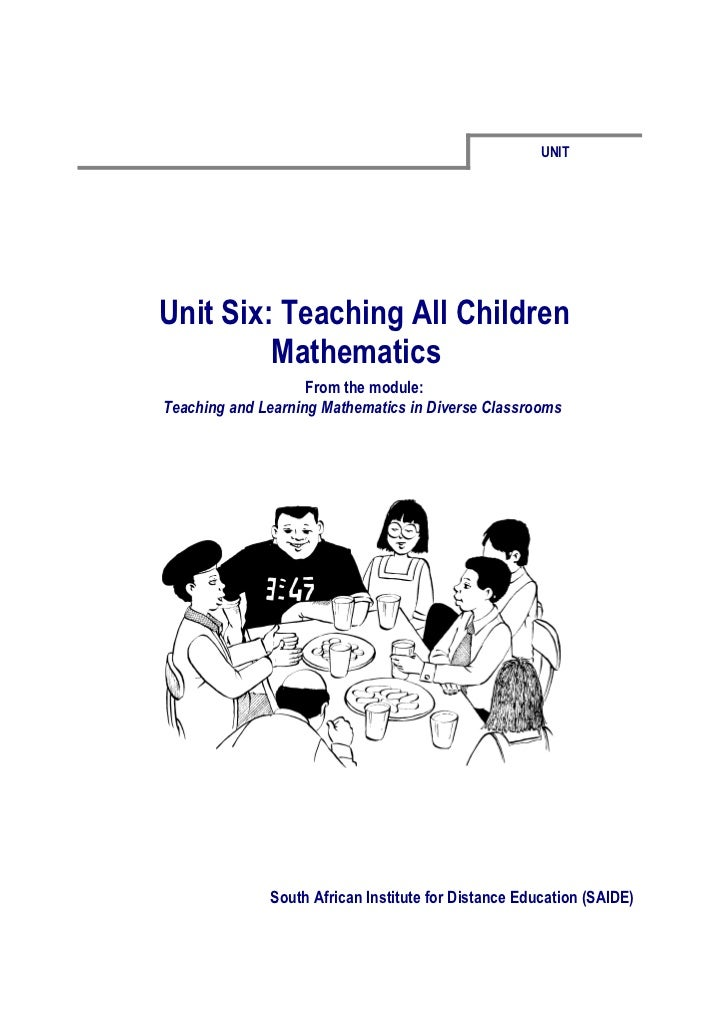 Ace Maths Unit Six: Teaching All Children Mathematics (word)