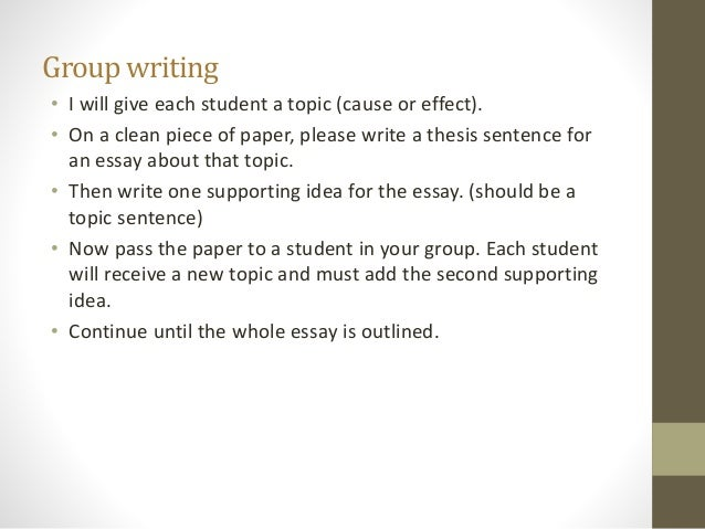 Cause and effect essay on education