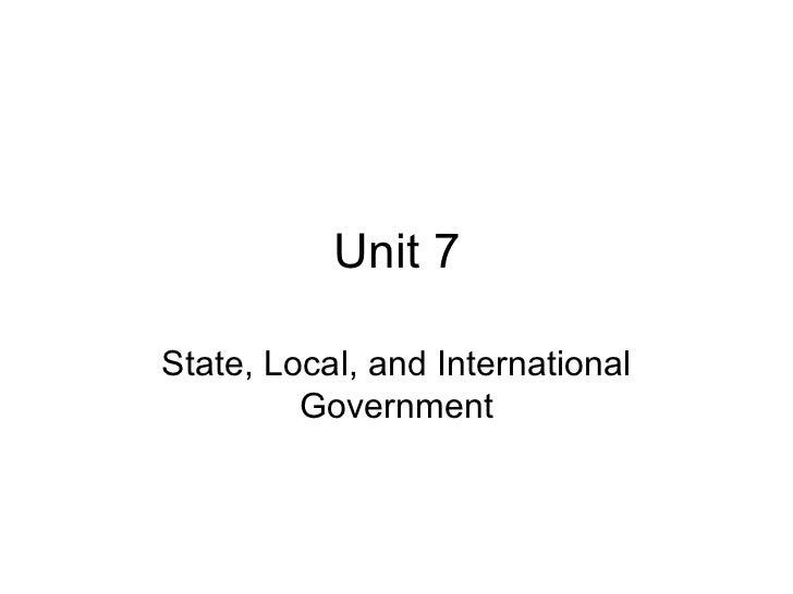 Unit 7 general
