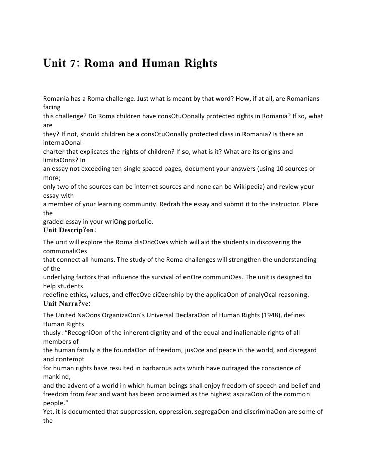 Unit 7 roma and human rights