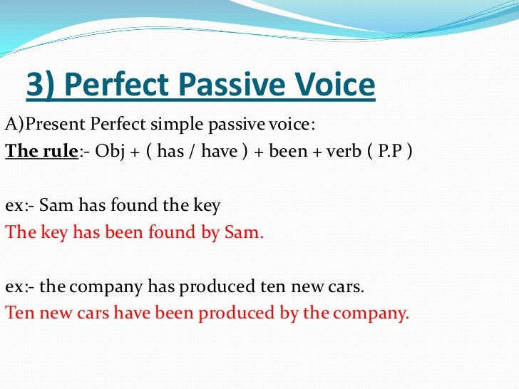 Passive Voice Part 1 English For Palestine