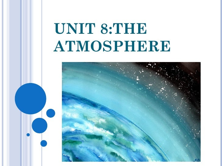 Unit 8: The atmosphere