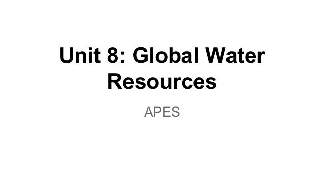Unit 8: Global Water Resources APES
