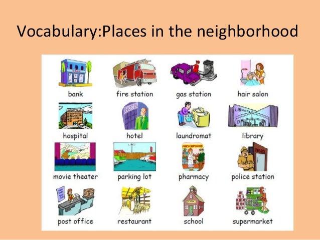 Write about your neighbourhood