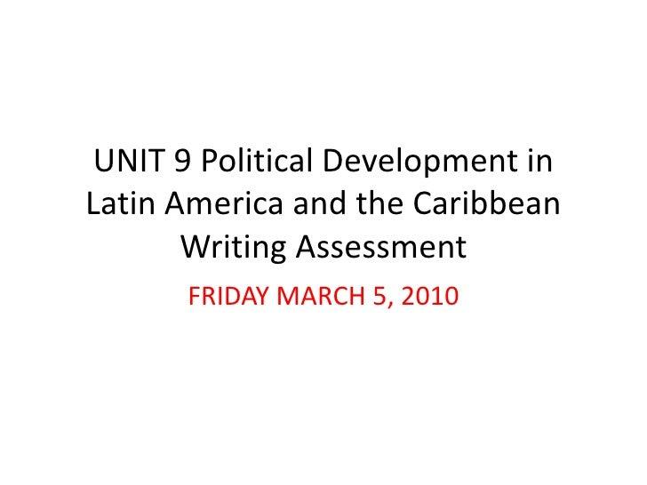 Unit 9 Political Development Study Guide