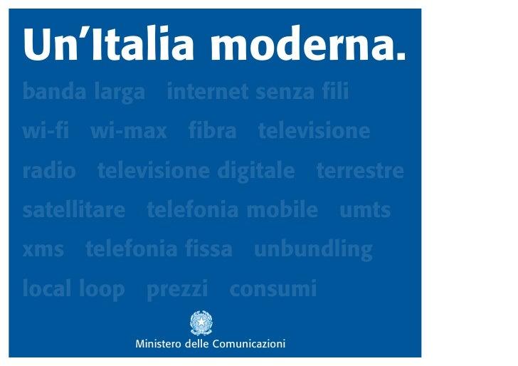 UN'ITALIA MODERNA