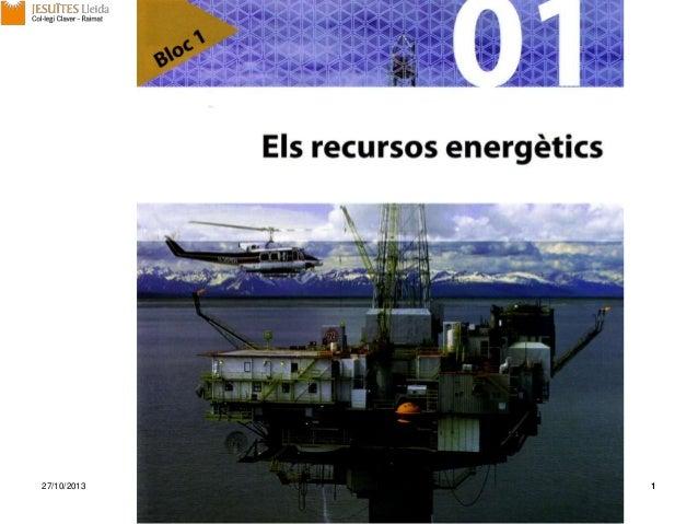 Unitat 1 els recursos energètics