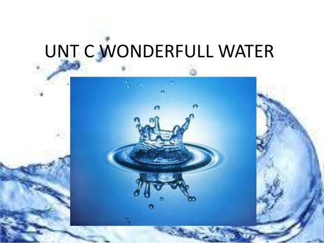 UNT C WONDERFULL WATER