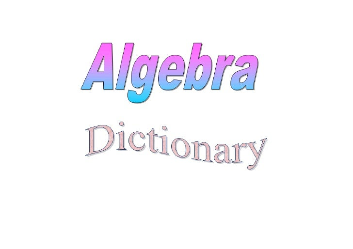 Unit Dictionary