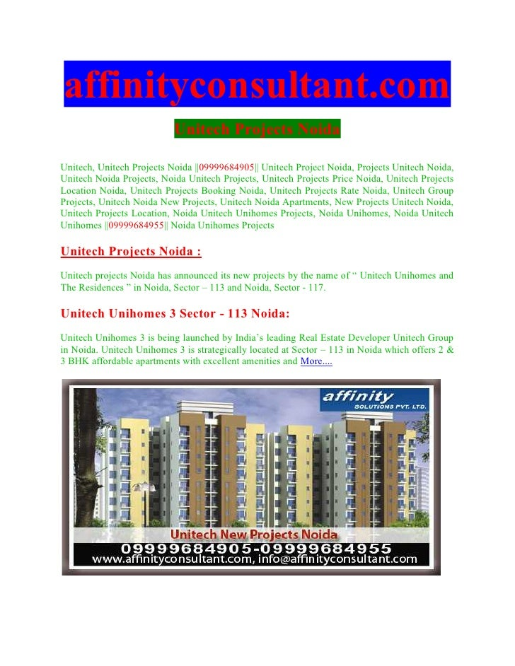 affinityconsultant.com                           Unitech Projects NoidaUnitech, Unitech Projects Noida ||09999684905|| Uni...