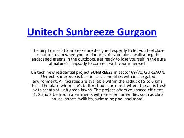 Unitech sunbreeze gurgaon