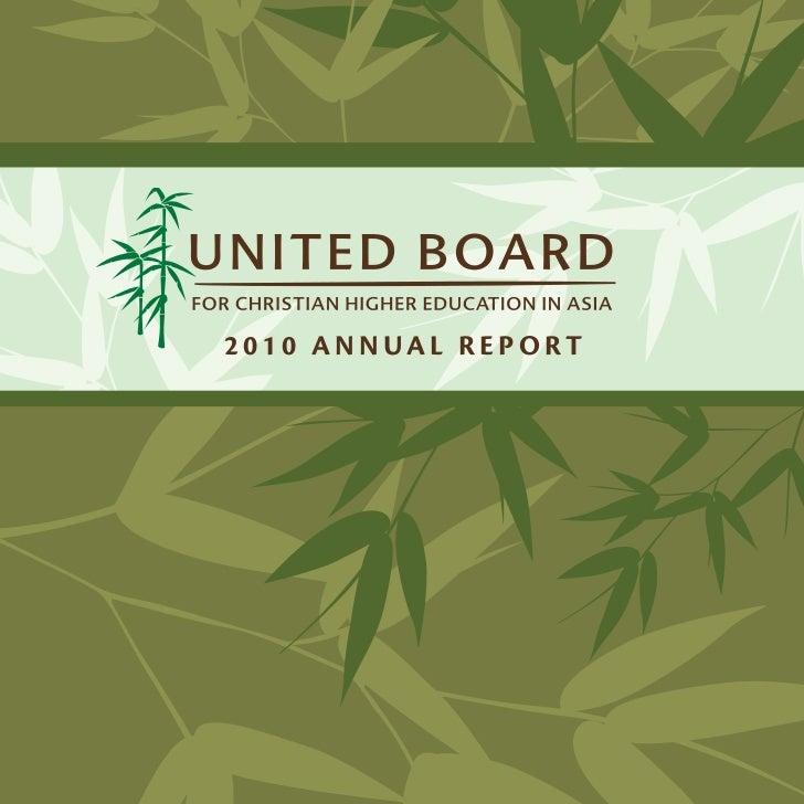 United Board Annual Report  2010