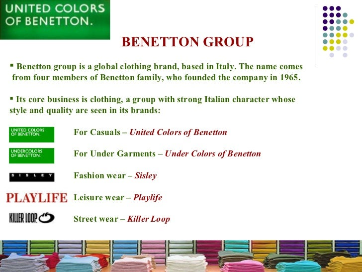 benetton group evolution of communication strategy This research paper advertising of benetton and now the question of how advertising came to be and the evolution of benetton's new communication strategy.
