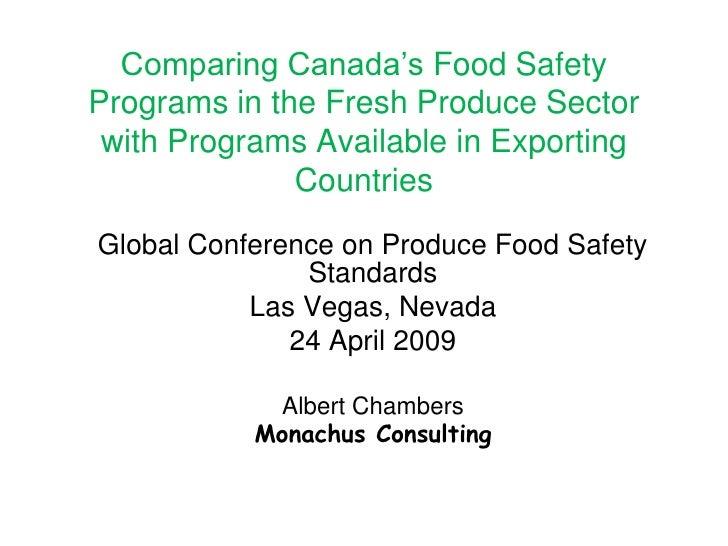 United Fresh Global Food Safety Conference   24 April 2009