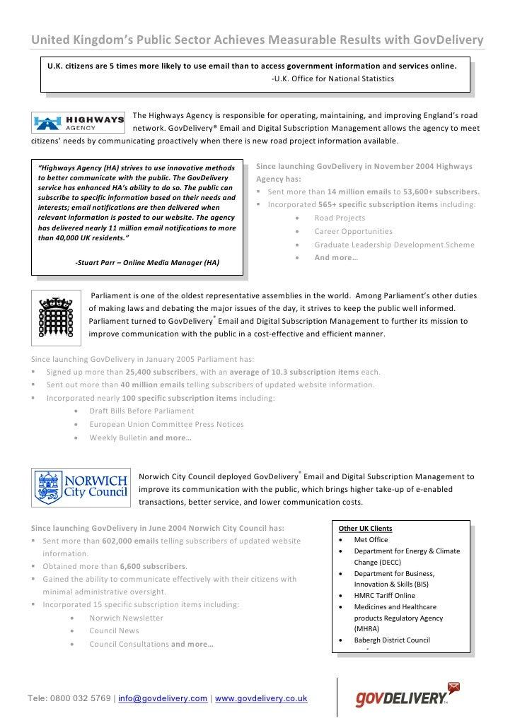 United kingdom infosheet