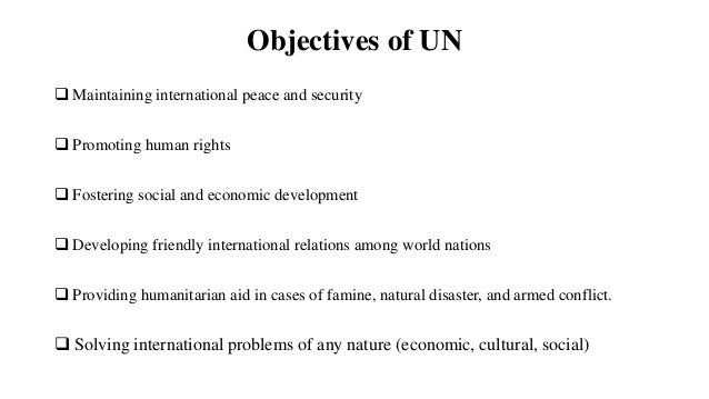 How is the United Nations Organized?