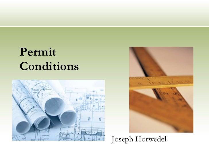 United neighborhoods permit conditions