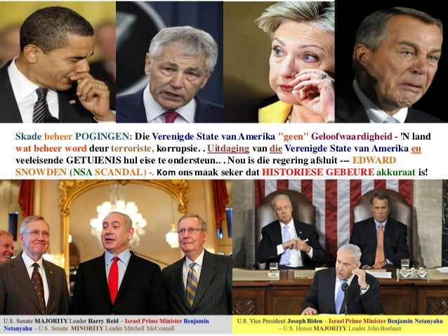 UNITED STATES - DAMAGE CONTROL TACTICS - CREDIBILITY ISSUES (Afrikaans)