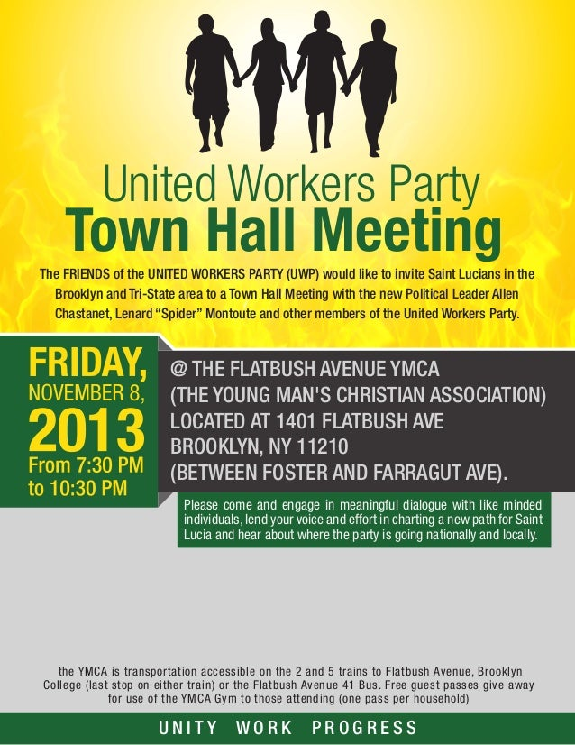 United Workers Party Town Hall meeting New York