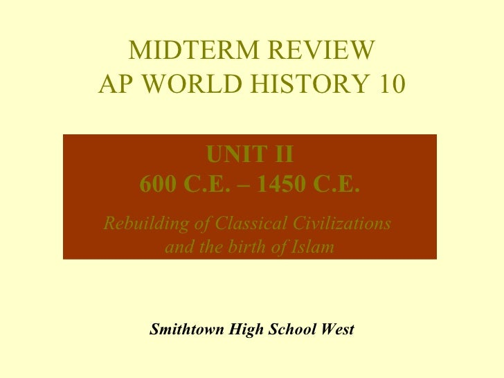us history ii midterm review Us history ii midterm study guide reconstruction era presidents goals  of reconstruction jim crow laws booker t washington and web dubois.