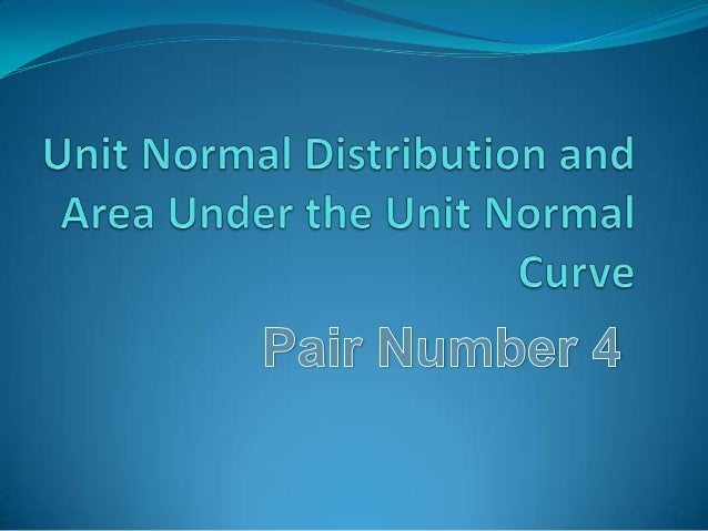 Unit Normal DistributionThis is the simplest of the family of Normal Distributions, also calledthe z distribution. It is a...