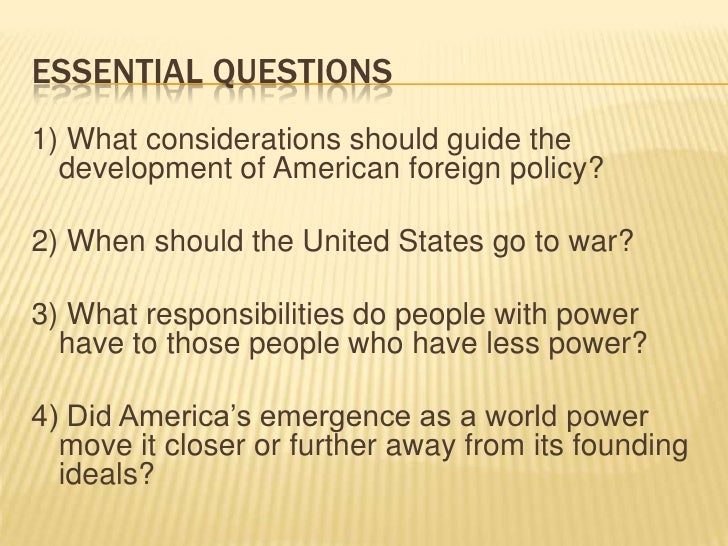 foreign policy essay intro Economic assistance and foreign aid the tools you need to write a quality essay or term paper (intro, page 2) the bush's foreign policy.