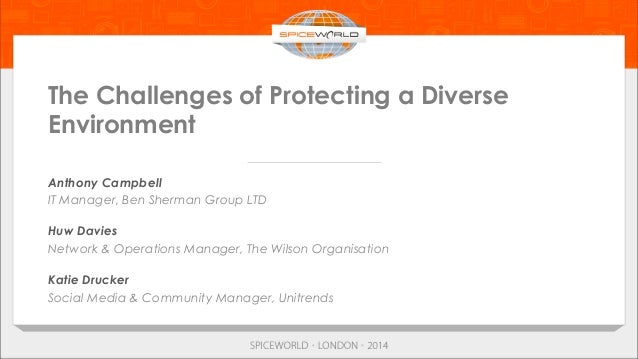 The Challenges of Protecting a Diverse Environment Anthony Campbell IT Manager, Ben Sherman Group LTD Huw Davies Network &...