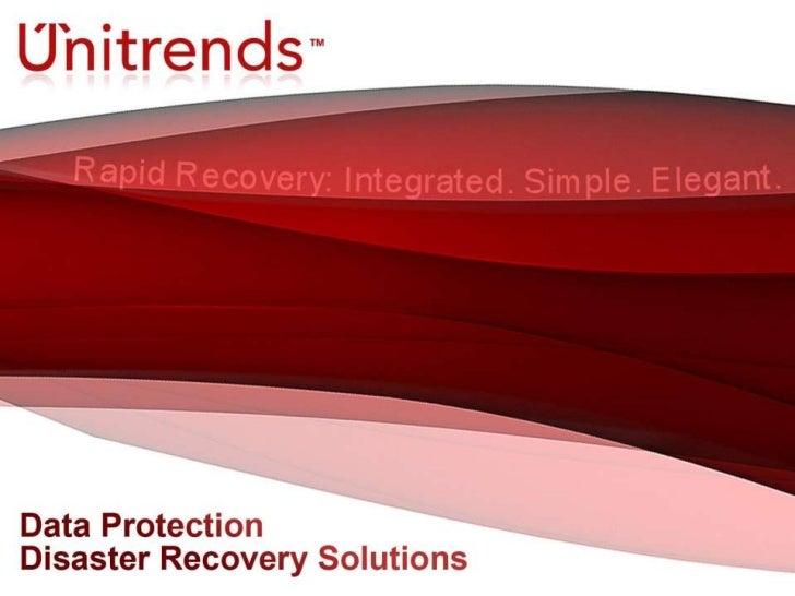 Unitrends Sales Presentation 2010