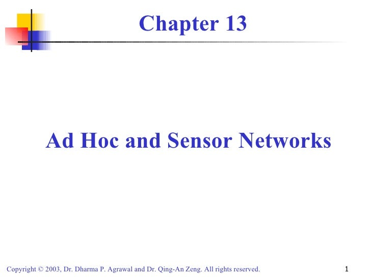 Unit VIII wireless sensor networks