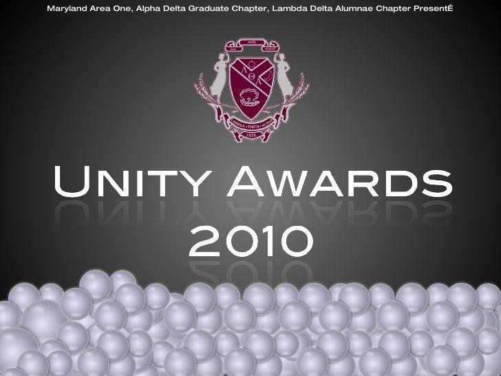 Unity awards dinner 2010