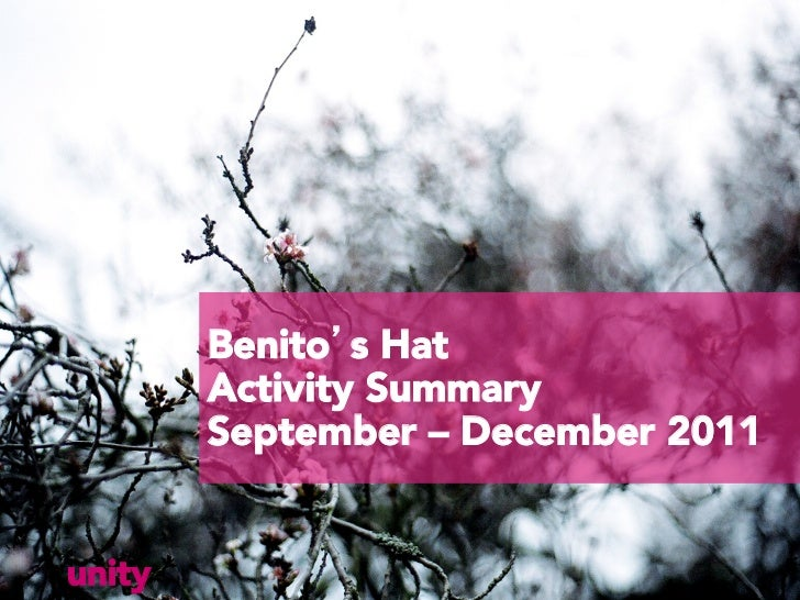 Unity benitos hat campaign_2011