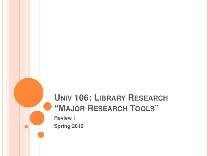Univ 106 review1