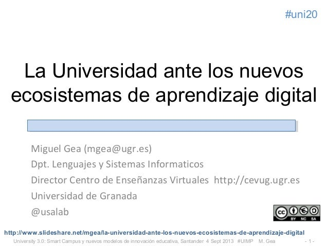 La Universidad ante los nuevos ecosistemas de aprendizaje digital
