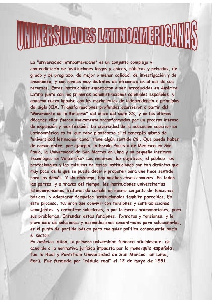 """-1082675-804545<br />La """"universidad latinoamericana"""" es un conjunto complejo y contradictorio de instituciones largas y c..."""