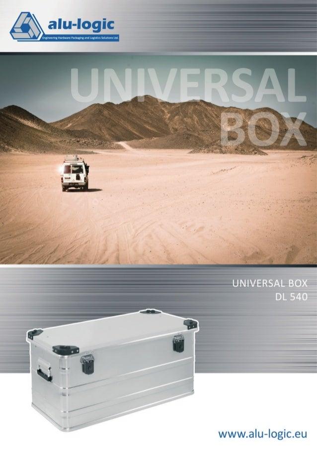 Universal Box DL 540 Universal Box DL 540 GRUNDWERT MIT PERFEKTER LEISTUNG UNTER DIVERSEN BEDINGUNGEN. Für industriellen u...