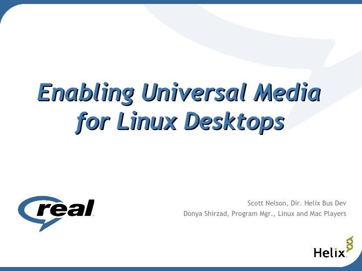 Universal Media Desktop Linux