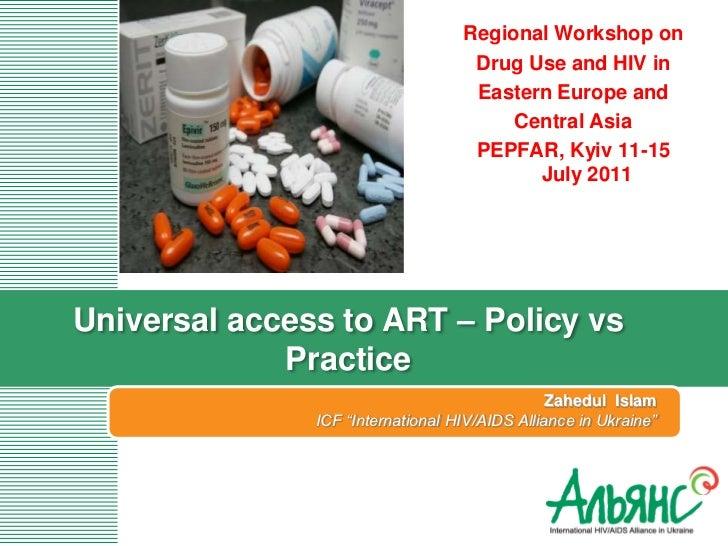 Regional Workshop on                                    Drug Use and HIV in                                    Eastern Eur...