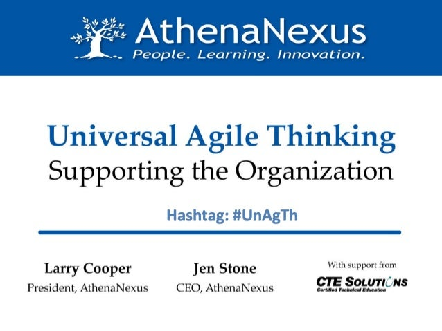 Universal Agile Thinking - Supporting the Organization