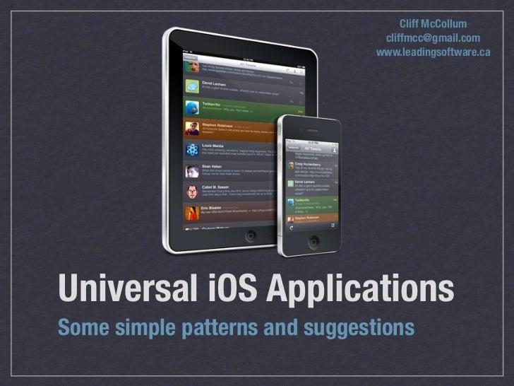 Creating a Universal iOS Application