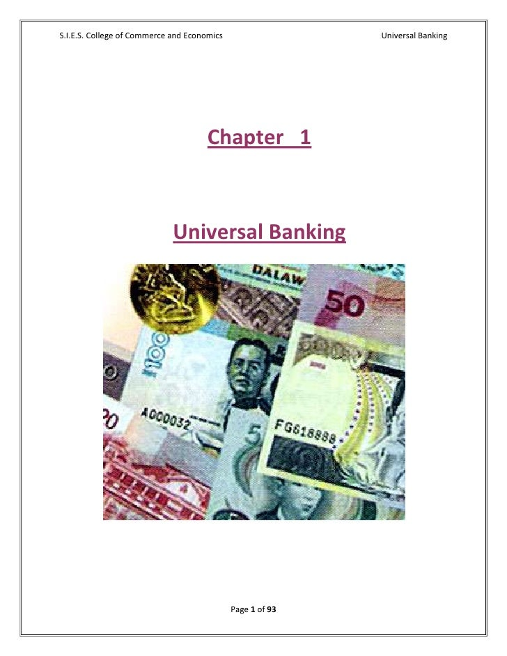 Universal banking final